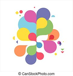 Colorful abstract background, poster, with splash rainbow color, vector concept design