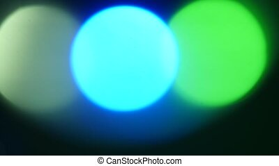 Colorful Abstract Background three circles bokeh