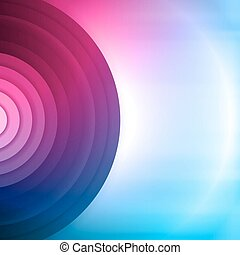 Colorful abstract background. Vector background with circles