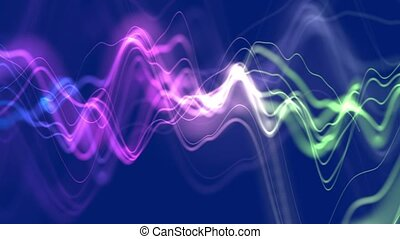 Colorful abstract background with distortion damages
