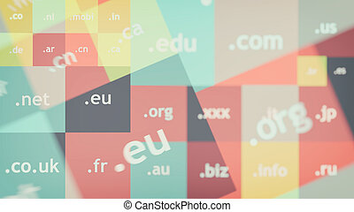 Colorful abstract background with domain names