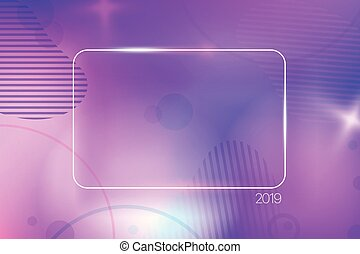 Colorful abstract background with empty frame. Template for a text. Fluid shape, dynamic