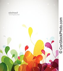 Colorful abstract background with flowers.