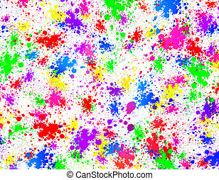 Colorful abstract background with paint splashes.