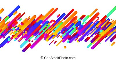 Colorful abstract banner on white.