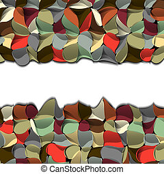 Colorful abstract border
