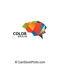 Colorful abstract brain logo template