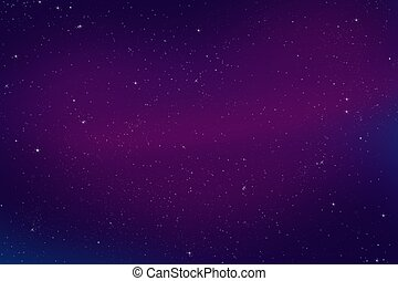 Bright Night Sky - Colorful Abstract Bright Night Sky...