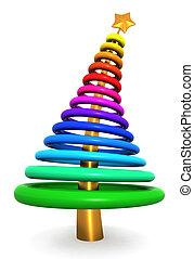 Colorful abstract christmas tree
