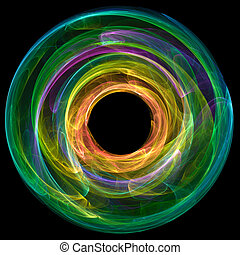 colorful abstract circle