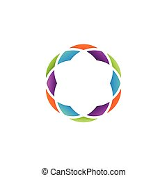 Colorful abstract circle vector