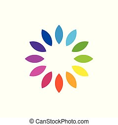 Colorful Abstract Circular Swirl Logo Round Shape