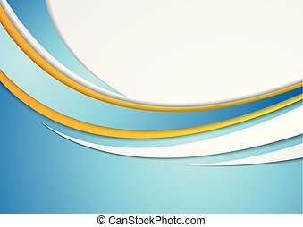 Colorful abstract corporate waves modern background
