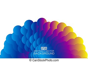 Colorful abstract design background.