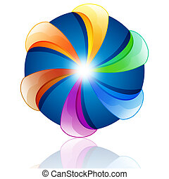 Colorful abstract design