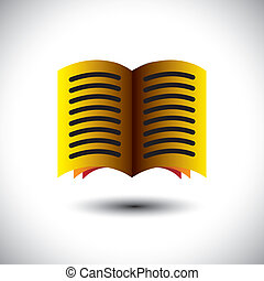colorful abstract digital book or e-book sign ( icon ) - vector graphic.