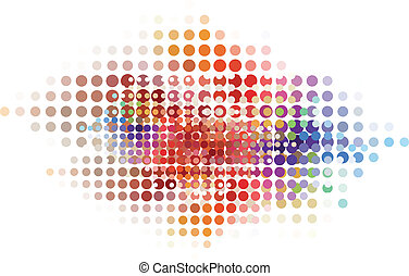 abstract dot background, vector - colorful abstract dot...