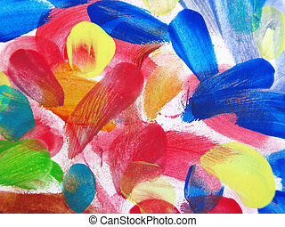 Colorful Abstract fingerprint background