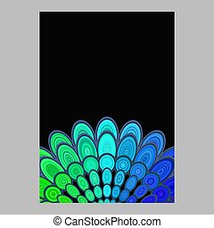 Colorful abstract floral mandala page background design