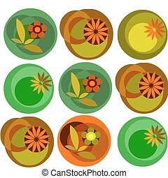 colorful abstract flower garden pattern