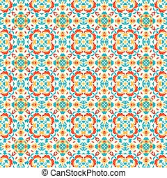 colorful abstract flower petals in retro style vintage seamless pattern