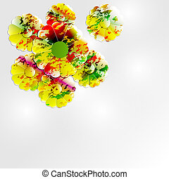 colorful abstract flowers background