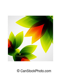 Colorful abstract flowers template