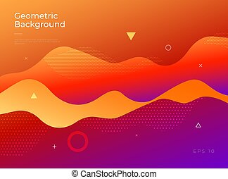 Colorful abstract geometric background. Gradient shapes composition.