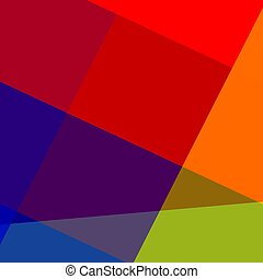 Colorful Abstract Geometric Background - Pixel