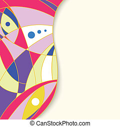 Colorful abstract geometric background with place for your text.