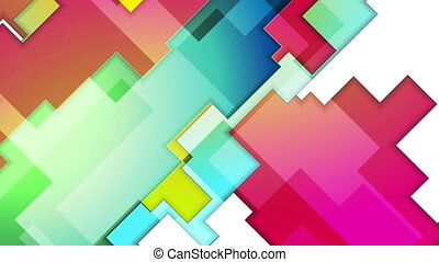 Colorful abstract geometry background motion design....