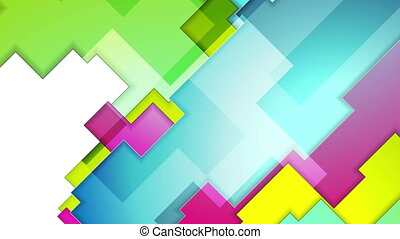 Colorful abstract geometry background motion design -...