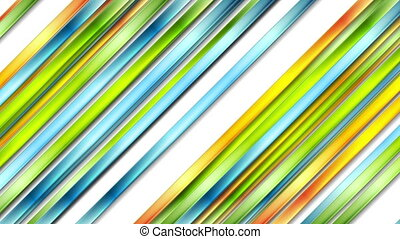 Colorful abstract glossy stripes video animation - Colorful...