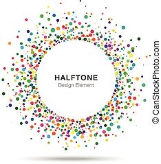 Colorful Abstract Halftone Logo Design Element, vector illustration