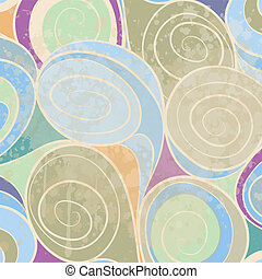 colorful abstract hand-drawn pattern, waves background