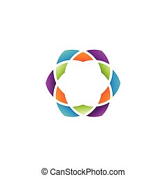 Colorful abstract hexagon vector