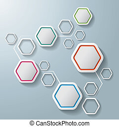 Colorful Abstract Hexagons Infographic 5 Options