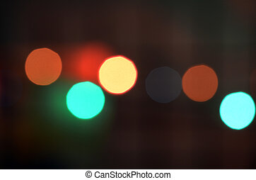 colorful abstract holiday lights