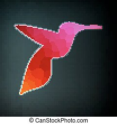 Colorful abstract hummingbird