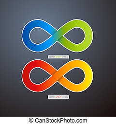 Colorful Abstract infinity symbols