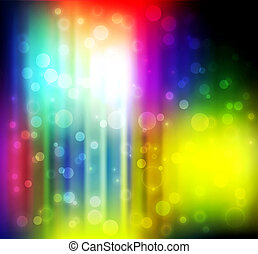 Colorful abstract lights.