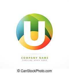 colorful abstract logo shape design template