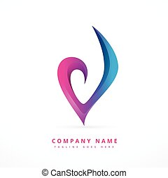 colorful abstract logo template design art