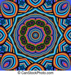 Colorful abstract mandala background