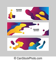 Colorful abstract modern benner background template