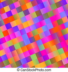 Colorful Abstract Mosaic Background - Tiles