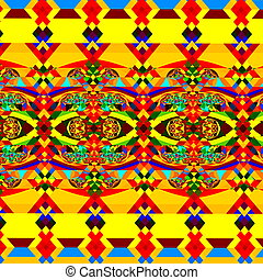 Colorful Abstract Pattern. Art.