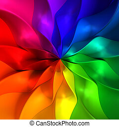 Colorful abstract petal illustration background