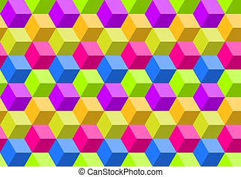 Colorful abstract polygon background, seamless geometric digital mosaic pattern, vector illustration