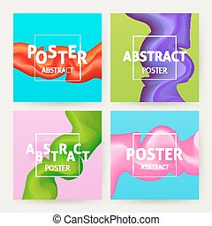Colorful Abstract Poster Set